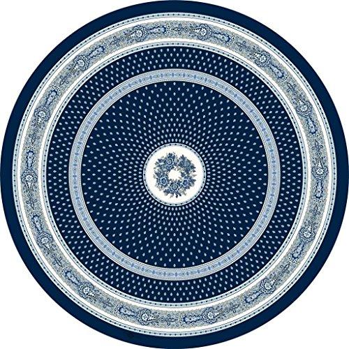 Nappe ronde coton enduit plastifié bastide marine 1m80