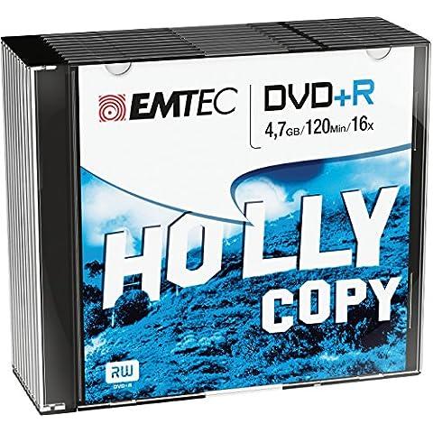 EMTEC ECOVPR471016SL - Pack de 10 DVD+R vírgenes, 4.7 GB