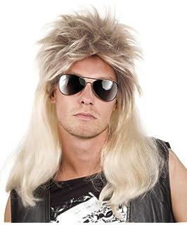 Blonde Punk Perücke zum Kostüm für Herren blond 80er 90er Jahre