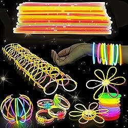 543 Pack - 250 Batons Lumineux Fluorescent, 293 Connecteurs - Bracelets, Colliers, Lunettes, Boules Lumineuses, Fleurs - Sûr et Non Toxique| Fêtes au Néon, Noël, Nouvel An, Anniversaires, Mariages.