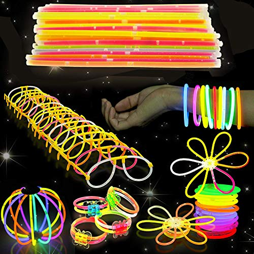 Imagen de 543 pack, 250 varitas luminosas, glow sticks, 293 conectores  pulseras, collares, gafas, bolas luminosas, flores  seguro y no tóxico| niños, cumpleaños, fiestas de neón, decoracion, piñatas.