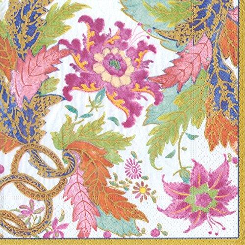 Caspari mit Tabak Blatt elfenbeinfarbenes Papier Cocktail Servietten Garten Dinner elfenbeinfarben - Caspari Dinner Servietten
