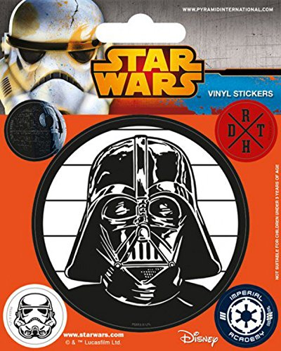 1art1 Star Wars - Darth Vader, Das Imperium Poster-Sticker Tattoo Aufkleber 12 x 10 cm