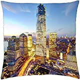 """freedom tower and new world trade center in nyc hdr - Throw Pillow Cover Case (18"""" x 18"""")"""