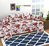 #5: Aerohaven 3D TC Printed 8Pc Diwan Set(1 Single Bedsheet, 2 Bolster Covers, 5 Cushion Covers)