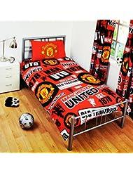 Manchester United FC - Parure officielle pour lit simple ou double