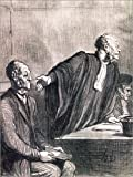 Posterlounge Cuadro de metacrilato 100 x 130 cm: Court Case: Trompe par sa Femme de Honoré Daumier/akg-Images