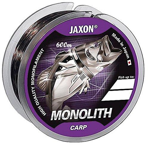 Jaxon Angelschnur Monolith CARP 0,25-0,35mm/600m Spule Monofil Karpfen Schnur (Ø 0,30mm / Tragkraft 18kg)