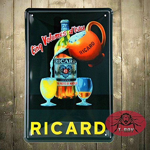 t-ray-ricard-pastis-metal-sign-metal-shield-plate