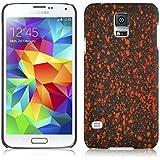 JAMMYLIZARD | 3D Splash Back Cover Hülle für Samsung Galaxy S5 / S5 Neo, ORANGE