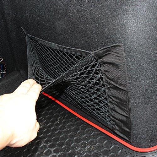 Car-net (CARGOOL Car Mesh Organizer Elastische Auto Net Halter Sitz zurück Aufbewahrungstasche für Handy, Trinkflasche, Trinkflasche und Kosmetiktuch, 16''x10 '', schwarz)