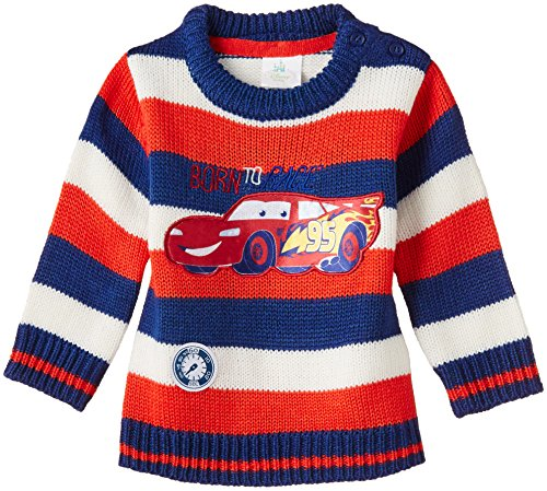 Disney Baby Boys' Sweater (NSW 804_Red and Navy Blue_18-24 months)