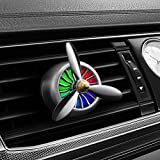 SUMHE Automobil Aromatherapie Dispergierer Ätherisches Öl Luftreiniger-LED Leuchten Kreativität Aluminium Legierung Flugzeugpropeller Steckdose Klemme,Gray