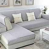 Reversible Sofá Fundas,Protector de sofá algodón Anti Slip Decorativo sofá Toalla Cubre Conjuntos para Vivir Sala de Amortiguador Tapa-Protector de los Muebles-Gris 110x240cm(43x94inch)
