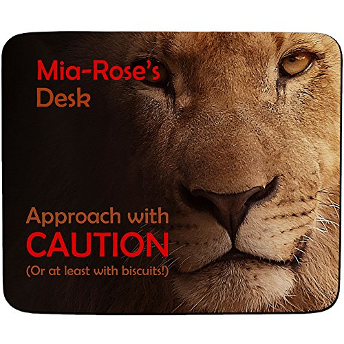 mia-roses-desk-approach-with-caution-lion-design-personalised-name-mouse-mat-premium-5mm-thick
