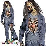 Zombie Gr. 164 162 Skelett Halloween Kostüm Kinder Halloweenkostüm Kinderkostüm Zombiekostüm