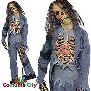 Amscan International Zombie Gr. 164162 esqueleto de Halloween los niños disfraces disfraz de Halloween traje traje de Zombie