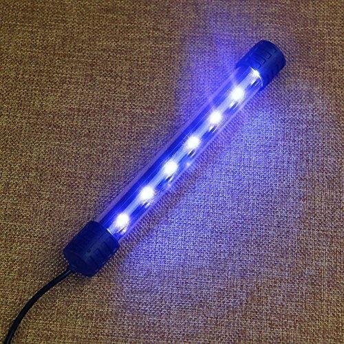 juxinuk 1pc Aquarium LED Licht Tauch wasserdichte Bar Strip Lampe (Blau)