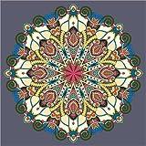 Cuadro sobre lienzo 30 x 30 cm: Farbenfrohes Mandala de Colourbox - cuadro terminado, cuadro sobre bastidor, lámina terminada sobre lienzo auténtico, impresión en lienzo