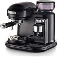 Ariete 1318B Moderna Espresso Machine, 15 Bar Pressure Pump, Barista Style Coffee Maker with Built in Grinder & Milk…