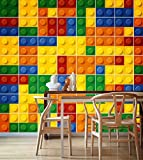 Fliesenaufkleber Ziegel Wand Kinderzimmer Ideen Wohnzimmer Deko (Pack mit 49) (10 x 10 cm)