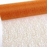 Spiderweb - Mesch - Tischläufer - Tischband - 30cm orange - Rolle 25m - 67 018-R 300