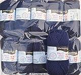 Schachenmayr Baby Smiles Bravo 135, Farbe 01050 marine, 10x50 g Babywolle zum Stricken weich