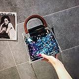 CJshop Sacchetto trasparente nuova estate borsetta in plastica quadrato piccolo sacchetto catena borsa inclinata fairy fairy spalla singola piccola borsa marea,blu