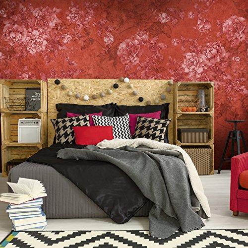 Lzhenjiang Wandbilder Die Malerei Der Dunkle Rote Blume Im Wohnzimmer Schlafzimmer Hintergrund Wallpaper Wallpaper (Malerei, Die Dunkle Seite)