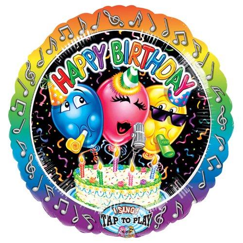 Anagram 1303701 Luftballon aus Folie zum Geburtstag, Sing-a-Tune, 71,1 cm, mehrfarbig