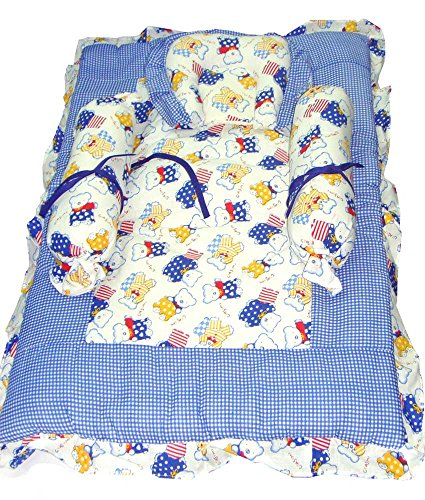 Baby Basics - Blue & White Bedding Set