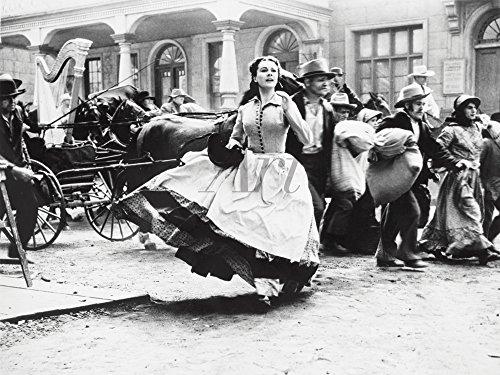 Artland Qualitätsbilder I Wandtattoo Wandsticker Wandaufkleber 40 x 30 cm Film TV Stars Foto Schwarz Weiß C2PV vom Winde verweht 1939 VI (Weiß Tv-wagen)