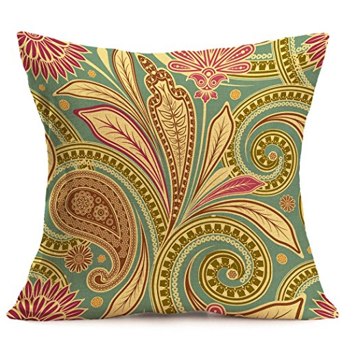 Jamicy Moda lino Bohemian Pattern Home Decor cuscino cuscino copriauto B