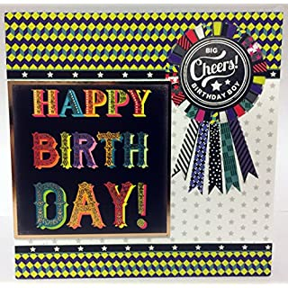 Male Birthday Card - Rosette