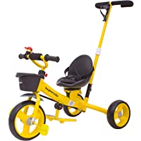 Baybee Breeze 2 in 1 Kids Tricycle Convertible Baby Tricycle Kid's Trike with Parental Adjust Push Handle Children with…