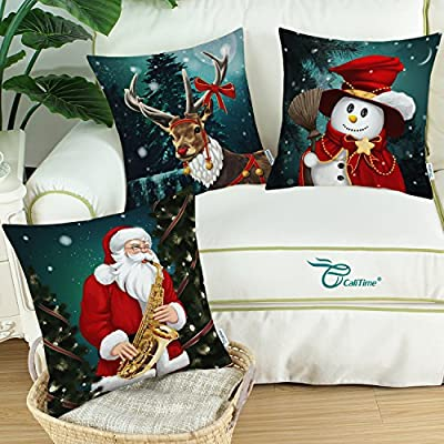3 x Christmas Throw Cushion Covers different designs 45x45 cm