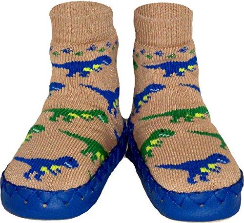 ntoffeln im Dinosaurier Design für Jungen und Mädchen - Mokassins Hausschuhe für Babys, Kinder und Jugendliche ()