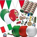 Sie planen eine Italien-Party aus einem bestimmten Anlass oder die EM oder WM?  Dafür müssen Sie die benötigte Dekoration nicht mehr aufwendig zusammensuchen, sondern finden hier alles schnell und mühelos in einem Paket!   Produktdetails:   - 1 x Wim...