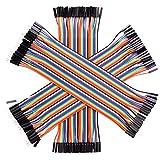 Cavo del Ponticello,160Pcs Cavo Maschio-femmina a 40 pin Multicolore,Ponticello di Collegamento del Pane della Scheda Test Colore,Doppia Linea DuPont per Cablaggio Elettronico (20 cm)