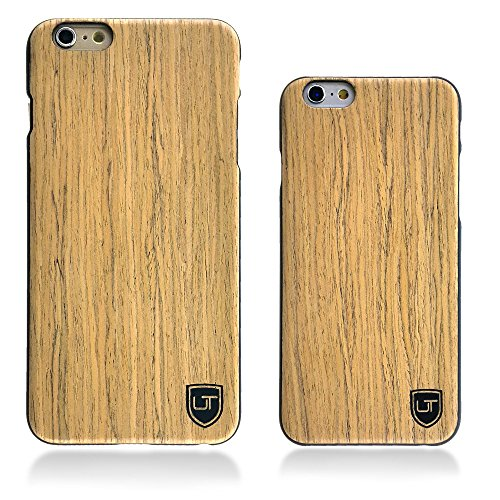 Custodia in legno Apple iPhone 6 / 6s ** Vero Legno - Ultra Sottile ** Design Unico ** Perfect Fit ** Cover Bumper UTECTION® Pioppo Abachi