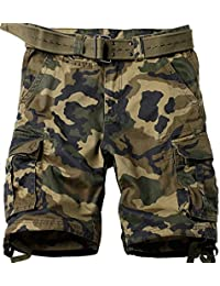 Mochoose Herren Sommer Casual Camo Baumwoll Twill Cargo Shorts 1/2 Multi Taschen Outdoor Tragen Hosen