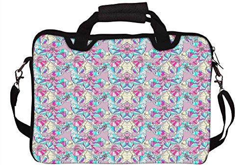 Snoogg 43,2cm 44,2cm Zoll Laptop Notebook Computer Netbook Weiche Schultertasche mit Riemen Schutzhülle für Apple MacBook Pro 17Dell Inspiron und die meisten 43,2cm 44,2cm Zoll Laptop Chromebook Laptop Notebook
