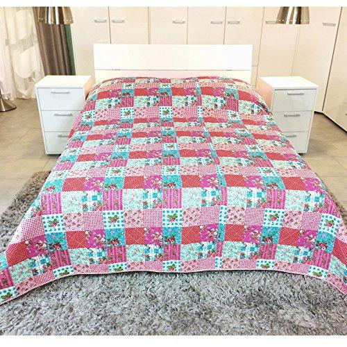 JEMIDI Patchwork Bett und Sofaüberwurf
