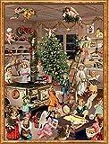 Adventskalender, viktorianisch, Weihnachtsbäckerei