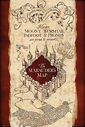 GB Eye, Harry Potter, Marauder's Map, Maxi Poster, 61 x 91,5 cm