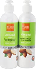 VLCC Almond Honey Deep Nourishing and Skin Brightening Body Lotion, 350ml (Buy 1 Get 1 Free)