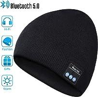 EVERSEE Bluetooth Mütze Männer & Frauen Geschenke, Bluetooth Mütze mit Bluetooth 5.0 Kopfhörern, Unisex Winter...