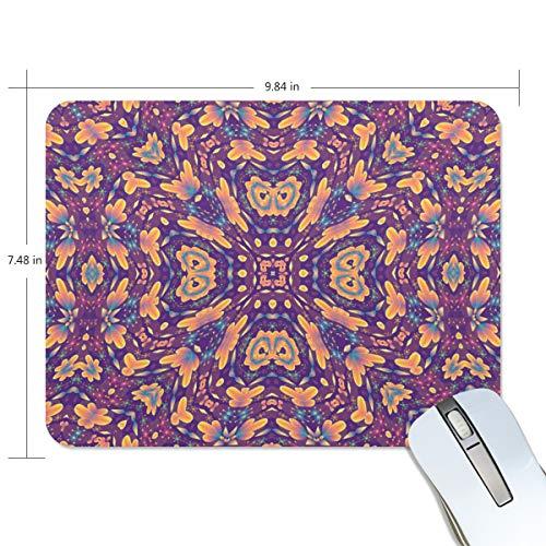 Mauspad Hippie Mandala Anti-Rutsch-Mauspad für Desktop-PCs Computer PC und Laptops, personalisiertes rechteckiges Mauspad für Büro und Zuhause