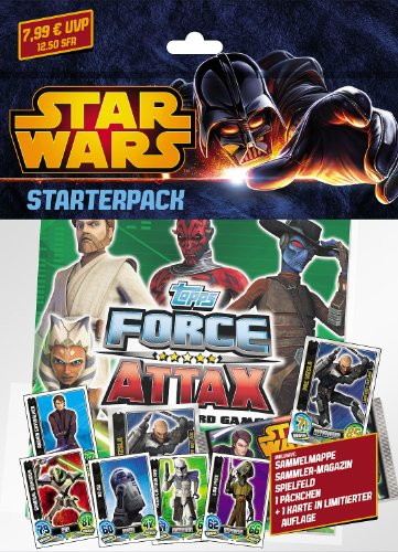 Topps TO90799 - Clone Wars - Force Attax Serie 5 Trading Card Starterpack (Wars-karte-spiel Card)