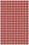 468 Strasssteine selbstklebend Glitzersteine zum Aufkleben rund Glitzer Aufkleber 5mm groß Kristalle Dekosteine Bastelsteine in rot